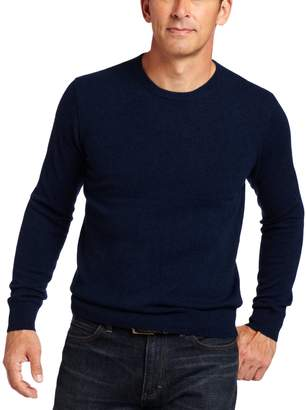 Williams Cashmere Men's 100% Cashmere Long Sleeve Crew Neck Sweater, Navy