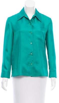 Prada Silk Long Sleeve Button-Up