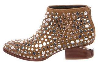 Alexander Wang Suede Studded Ankle Boots