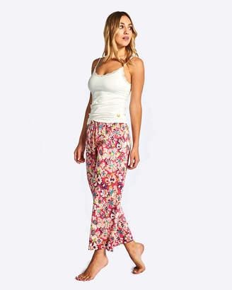 Deshabille Carribean Crop Pant & Cami Set Pink/Ivory