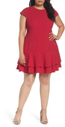 Eliza J Crepe Drop Waist Dress
