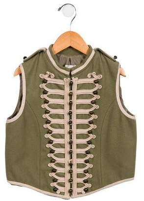 Stella McCartney Girls' Wool Button-Up Vest
