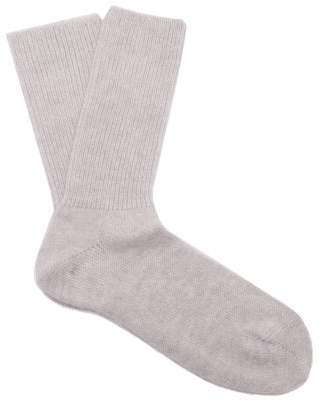 Raey Alpaca And Wool Blend Socks - Womens - Grey