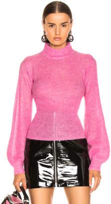 Nicholas Fine Mohair Blouson Top in Hot Pink | FWRD