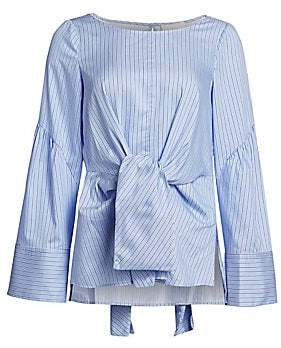 2b0bdd54ef787a 3.1 Phillip Lim Women s Striped Tie-Front Blouse - Size 0