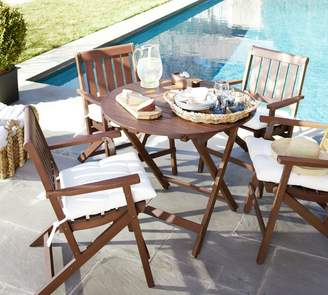 Pottery Barn Chatham Round Folding Bistro Table & Chair Dining Set, Honey