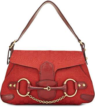 cbdce194160 ... What Goes Around Comes Around · Gucci Red GG Canvas Horsebit Shoulder  Bag