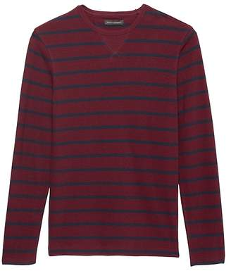 Banana Republic Heritage Stripe Long-Sleeve Crew-Neck T-Shirt