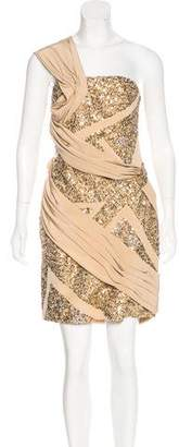 Elie Saab Sequin Silk Dress