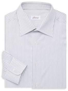 Brioni Vertical Stripe Dress Shirt