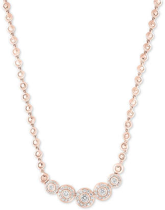 """Effy Pave Classica by Diamond Bezel 18"""" Collar Necklace (9/10 ct. t.w.)"""