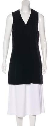 DKNY Sleeveless Velvet Cardigan
