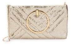 La Regale Quilted Ring Handle Clutch