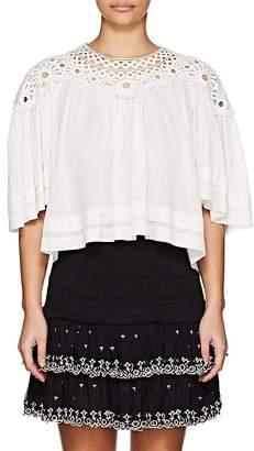 Etoile Isabel Marant Women's Release Plissé Cotton Top