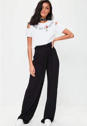 Missguided Tall Black Casual Wide Leg Pants