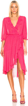Icons Objects Of Devotion Objects of Devotion 3/4 Sleeve Cha Cha Wrap Dress in Deep Pink | FWRD