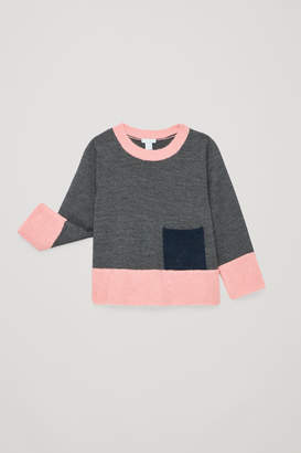 Cos COLOUR-BLOCK MERINO JUMPER