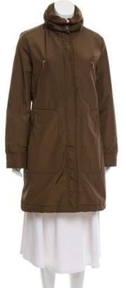 Post Card Knee-Length Padded Coat