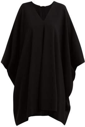 The Row Iona Stretch Crepe Kaftan Dress - Womens - Black