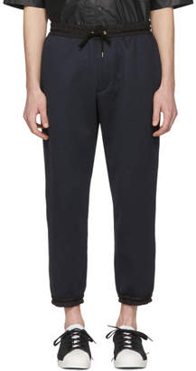 Kolor Navy Nylon Trim Lounge Pants