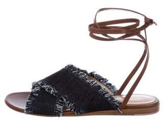 Gianvito Rossi Denim Lace-Up Sandals