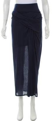 Helmut Lang Tonal Stitched Maxi Skirt