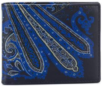Etro paisley print fold out wallet