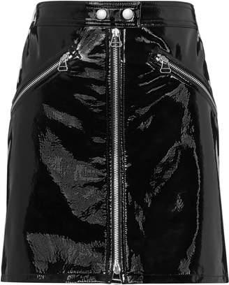 Rag & Bone/Jean Racer Patent Black Skirt