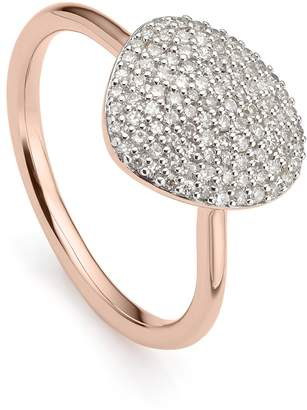 Monica Vinader Nura Diamond Pebble Ring