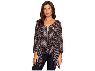 Roper 1562 Printed Polyester Long Length Tunic Women's Clothing