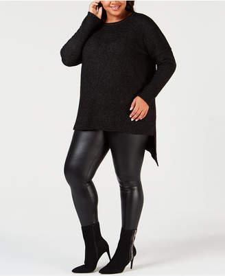 NY Collection Plus Size Asymmetrical-Hem Sweater