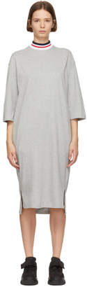 Sjyp Grey Neck Band T-Shirt Dress