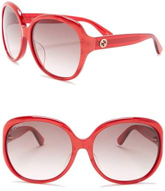Gucci Oversized 61mm Sunglasses