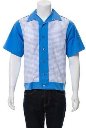 Prada Two-Tone Button-Up Shirt w/ Tags