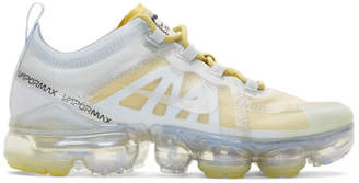 Nike Silver and Yellow Air Vapormax 2019 Sneakers