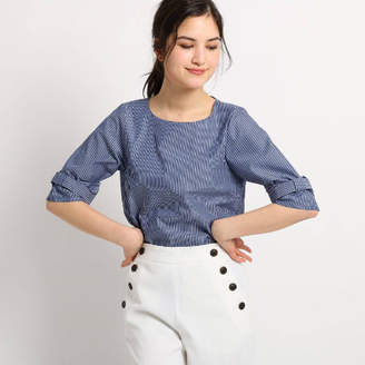 Dessin (デッサン) - Dessin(Ladies) innowaveブロードリボンスリーブプルオーバーシャツ