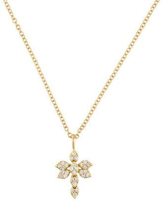 Jamie Wolf 18K Diamond Dragonfly Pendant Necklace