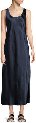 Vince Bias-Seam Sateen Slip Dress