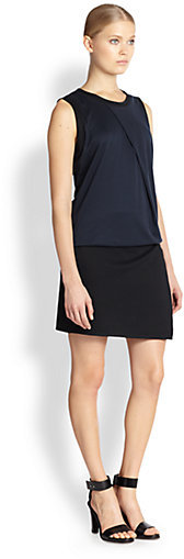 Helmut Lang Emission Asymmetrical Fold Dress