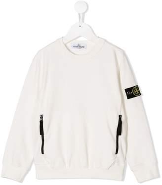 Stone Island Junior zipped pockets sweatshirt