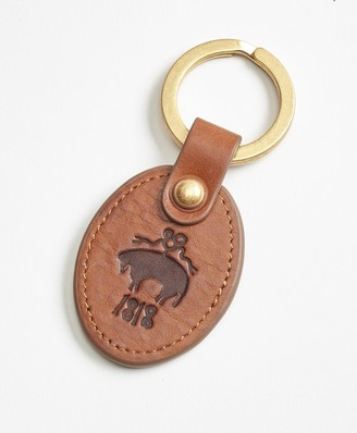 Brooks Brothers Leather Logo Key Fob