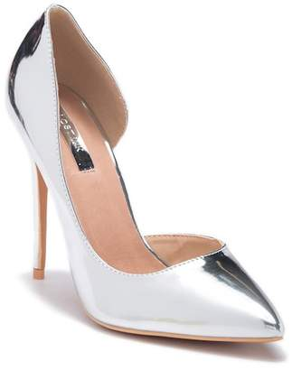 LOST INK Gigi D'Orsay Metallic Sandal
