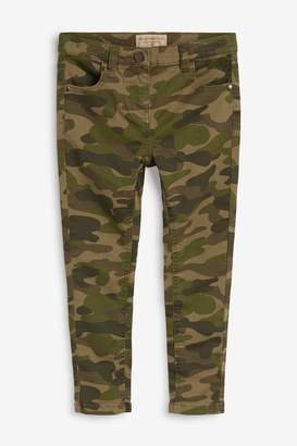 Next Girls Khaki Camo Skinny Jeans (3-16yrs) - Green