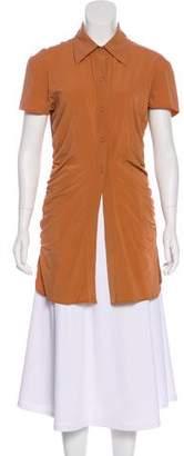 Fendi Silk Ruched Tunic