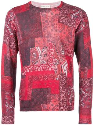Etro patchwork print paisley sweater