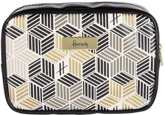 Harrods Metallic Cube Cosmetic Bag