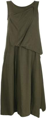 Yohji Yamamoto draped detail dress