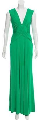 Issa Knit Evening Dress Green Knit Evening Dress