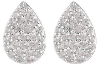 Argentovivo Sterling Silver CZ Pave Teardop Earrings