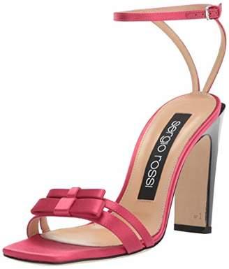 Sergio Rossi Women's SR Bow Heeled Sandal 36.5 Medium EU (36